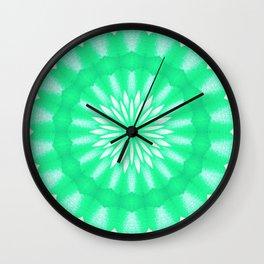 Mozaik Mandala Flower (green) Wall Clock