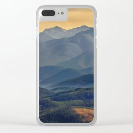 Evening in the Rockies - Montana Clear iPhone Case