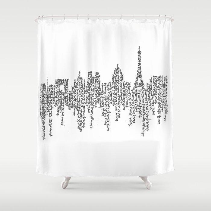 Paris Shower Curtain By Slhurd