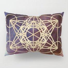 Metatron Mandala Moon Gold Bronze Copper Pillow Sham