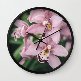 Orchid cascase Wall Clock