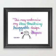 Huggable Design Framed Art Print
