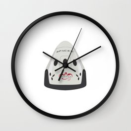 SpaceX Red Dragon Wall Clock
