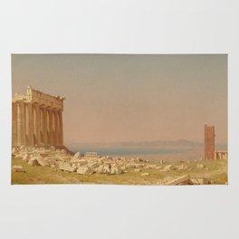Sanford Robinson Gifford Ruins of the Parthenon 1880 Painting Rug