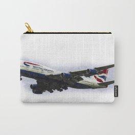 British Airways Boeing 747 Art Carry-All Pouch