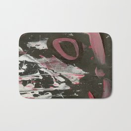 Heavy Metal Music Abstract - Black White Red - Corbin Henry Bath Mat