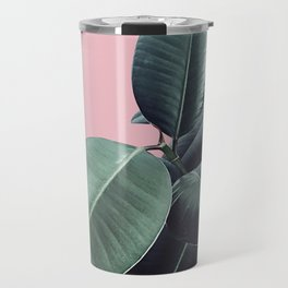 Ficus Elastica #14 #CoralBlush #decor #art #society6 Travel Mug