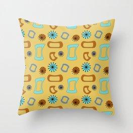 Mid Century Modern I in Mustard Yellow Throw Pillow