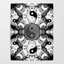 YinYang Sacred Geometry Totem Poster