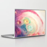 third eye Laptop & iPad Skins featuring third eye by Kras Arts - Fly Me To The Moon