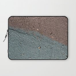 Silver Waves on Concrete Laptop Sleeve