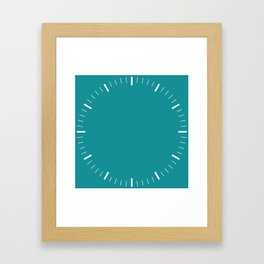 Turquoise Clock Framed Art Print