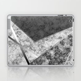 Combined abstract pattern in black and white . Laptop & iPad Skin
