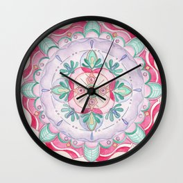 Mandala Primavera Wall Clock