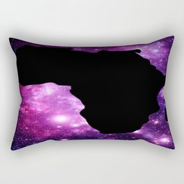 Africa : Purple Pink Fuchsia Galaxy Rectangular Pillow
