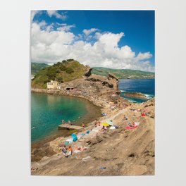 Sunbathing at the islet Poster