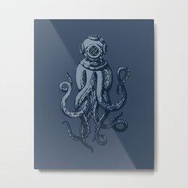 Scuba Octopus Metal Print