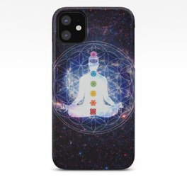Flower of Life Chakra Lightbody Meditation iPhone Case