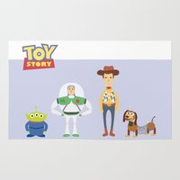 toy story Area & Throw Rugs featuring Toy Story by YoongSin
