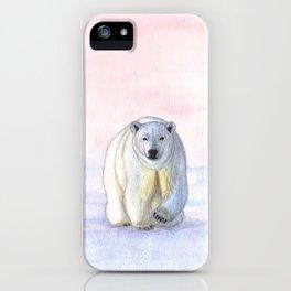 Polar bear in the icy dawn iPhone Case