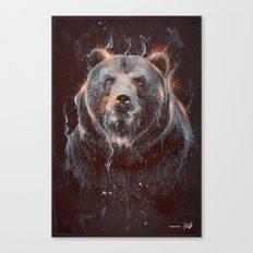 DARK BEAR Canvas Print