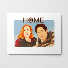 Home Mulder and Scully Babe Metal Print