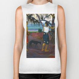 Under the Pandanus by Paul Gauguin Biker Tank
