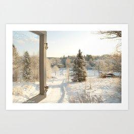 Finland in the winter - Fiskars Artist Village Art Print