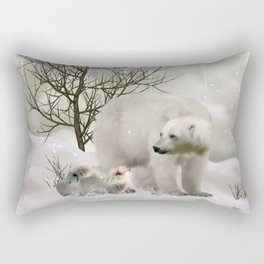 Awesome polar bear Rectangular Pillow
