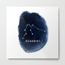 Aquarius Constellation Horoscope Metal Print