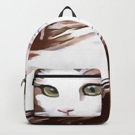 Elegant Long Haired Bi-Colored Cat Backpack