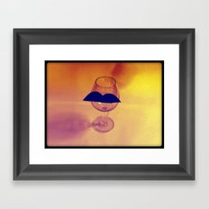 Hipster Wine Glass Framed Art Print