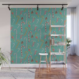 Candy Canes Wall Mural