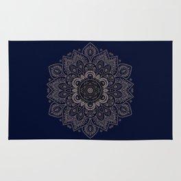 Temptation - Mandala 1 on Blue Backgound  Rug