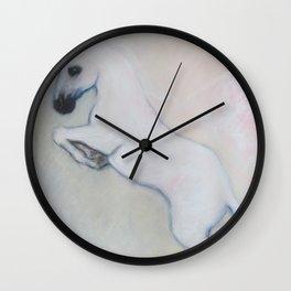 white horses Wall Clock