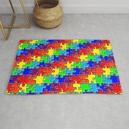 Rainbow puzzle Rug