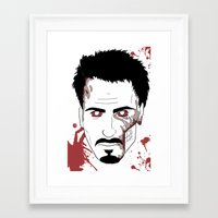 robert downey jr Framed Art Prints featuring Zombie Robert Downey Jr. by Roman Jones