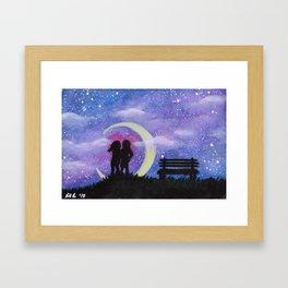 Galactic Lovers Framed Art Print
