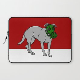 Dog Wearing A Gas Mask Laptop Sleeve
