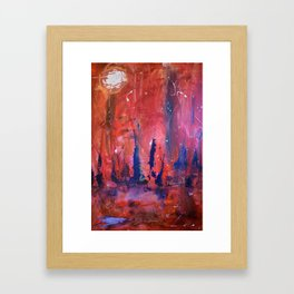 The Red Night Framed Art Print