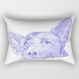 Mitzi takes it easy, blue Rectangular Pillow
