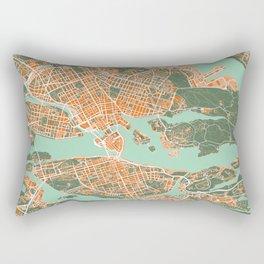 Stockholm city map orange Rectangular Pillow