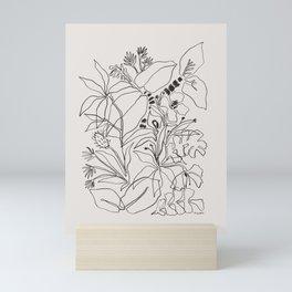 Charcoal Tropics Mini Art Print