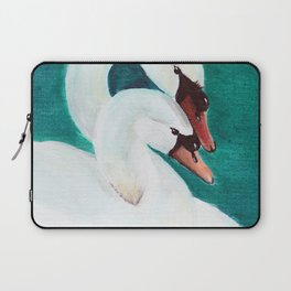 Swans Love Laptop Sleeve
