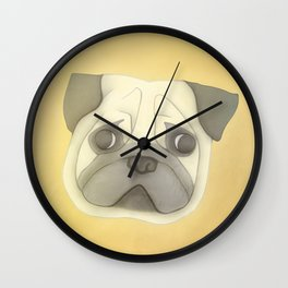 Pug face Wall Clock
