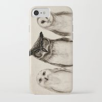 faces iPhone & iPod Cases featuring The Owl's 3 by Isaiah K. Stephens