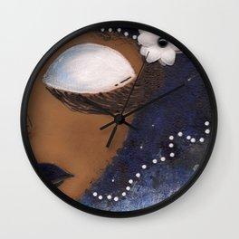 Blue and White Sassy Girl  Wall Clock