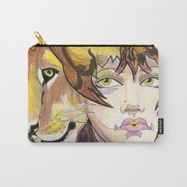 lion woman Carry-All Pouch