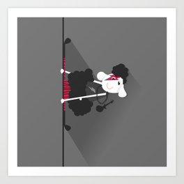 i love pole dancing Art Print