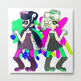 Splatoon - Callie and Marie! Metal Print
